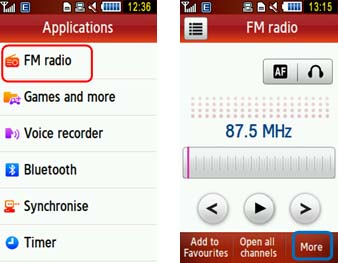 Why is the FM Radio not working on GT-S5230 (GT-S3650)
