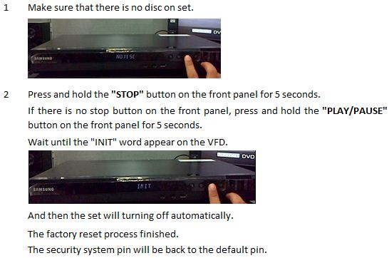 How do I solve if I forgot the security pin of my Blu-ray player?