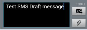Galaxy S3: How can I save a Draft Message in Messaging app?