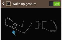 turn on wake up gesture