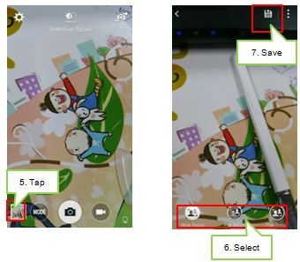 Galaxy Note4: How to use selective focus in the camera?