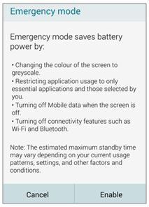 Galaxy Note4: What is Emergency Mode?