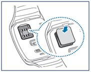 Galaxy Gear S: How to insert the SIM card?
