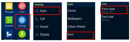 changing font style