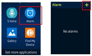 open alarm and tap