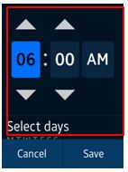 set the time of alarm