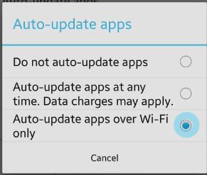 auto update via wifi