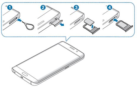 Galaxy S6 Edge Plus: How to install the SIM or USIM card?