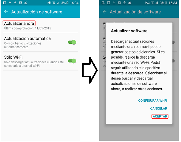 Galaxy Smartphone: Actualización de Software a través del aire (FOTA) Android 5.0 Lollipop