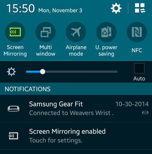 Screen Mirroring en el TV con el Galaxy S5