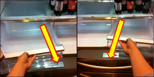 How To Remove And Clean Glass Shelf Above The Crisper Drawers French Door Refrigerator