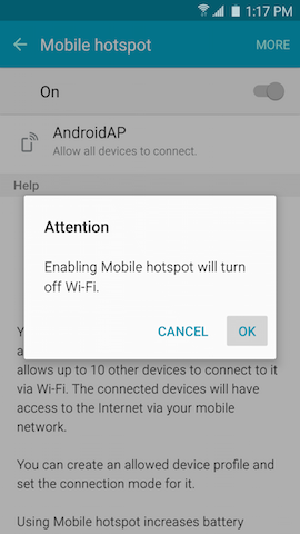 How do I set up the Mobile Hotspot or tethering on my Galaxy S6 Edge?