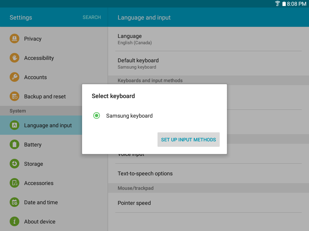 Galaxy Tab A: How do I change the language and input settings on my Samsung Galaxy Tab A?