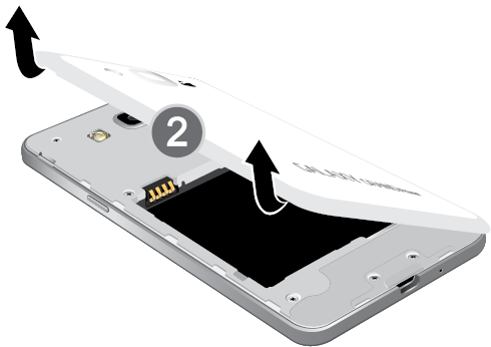 Grand Prime: How do I insert the SIM card into my Samsung Galaxy Grand Prime?
