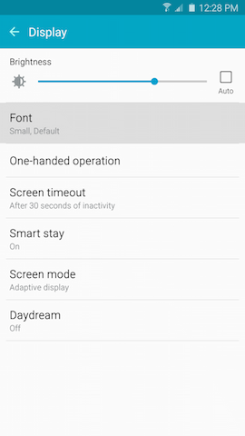 Galaxy Note5: How can I change the font size and style on my Samsung Galaxy Note5?