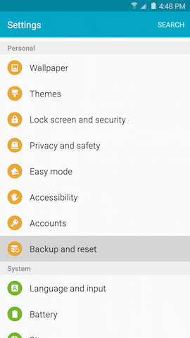 Galaxy Note5: How do I delete all of my personal information from my Samsung Galaxy Note5?