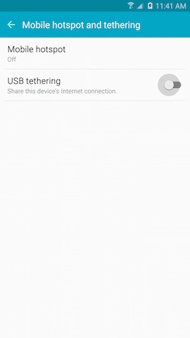 How do I set up the Mobile Hotspot or tethering features on my Samsung Galaxy Note5?