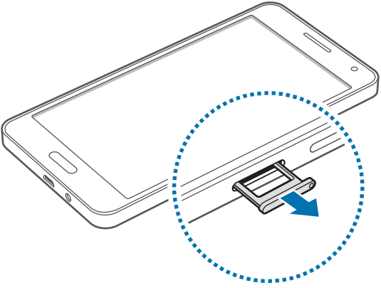 Galaxy A5: How do I insert the SIM card into my Samsung Galaxy A5?
