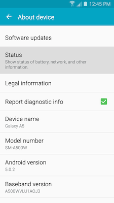 Galaxy A5: How do I find the serial number (or IMEI number) on my Samsung Galaxy A5?
