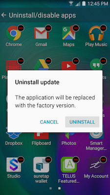 Galaxy A5: How do I uninstall or turn off applications on my Samsung Galaxy A5?