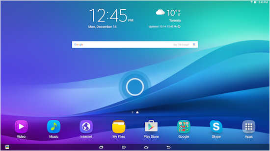 Galaxy View How Can I Change The Wallpaper On My Samsung Galaxy View Samsung Support Ca