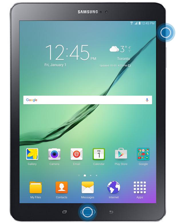 Galaxy Tab S2 Take A Screenshot Sm T710 Sm T810 Samsung Canada