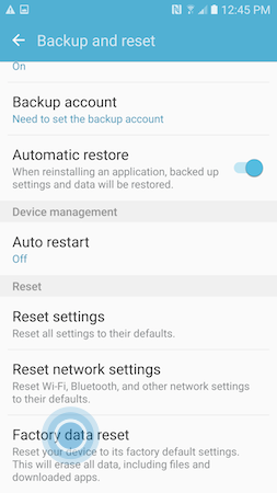 Galaxy S7: How do I perform a Factory Data Reset on my Samsung Galaxy S7?