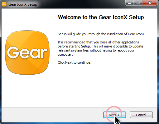How do I install the Gear IconX Manager software on my PC and how do I use it?