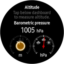 How do I set up the altitude and barometric pressure widget on my Gear S3 Classic?