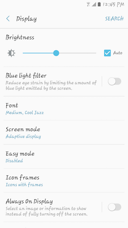 How can I change the font size and style on my Samsung Galaxy A5 2017?