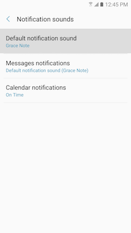 How do I Change Notification Sounds on my Samsung Galaxy A5 2017?
