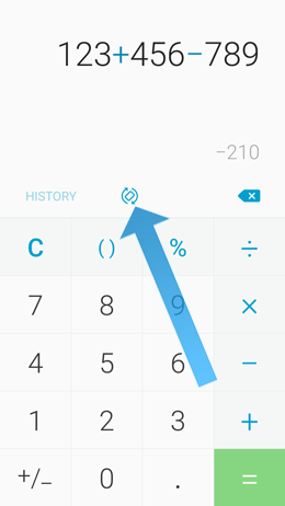 How to use the calculator and its advanced functions on my Galaxy A5 2017?