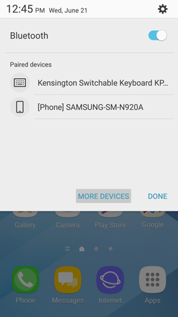 How do I pair my Samsung Galaxy A5 2017 to a Bluetooth device?