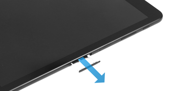 How do I insert a microSD card into my Galaxy Tab S3 or remove it?