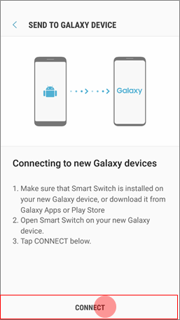 How to transfer data to my new device with Smart Switch?