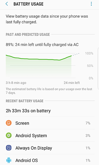 How do I monitor and extend battery life on my Galaxy Note8?