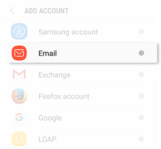Galaxy Note8: How do I add an Email account to my Samsung Galaxy Note8 (SM-N950W)?