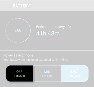 Galaxy Note8: How do I use the power saving modes on my Samsung Galaxy Note8 (SM-N950W)?