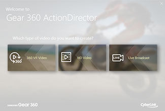 Gear 360 (2017): How I install the Cyberlink Action Director software?