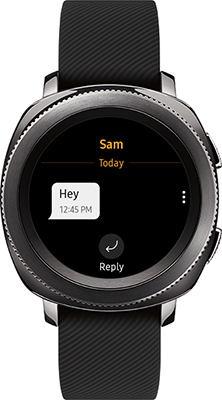 Gear Sport: How do I manage messages using my Samsung Gear Sport (SM-R600)?