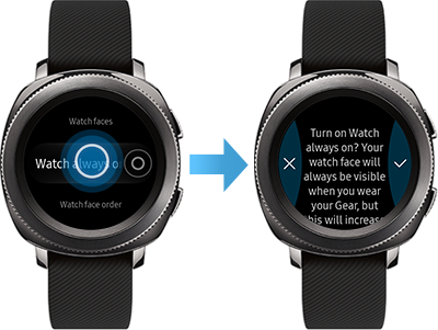 Gear Sport: How do I customize the display settings of my Samsung Gear Sport (SM-R600)?