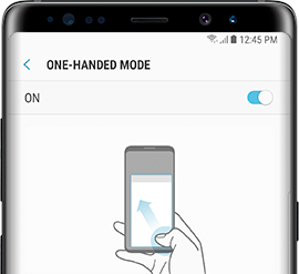 Galaxy Note8: How do I enable the One-handed mode on my Samsung Galaxy Note8 (SM-N950W)?