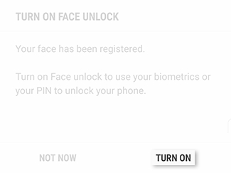 Enable Facial Recognition