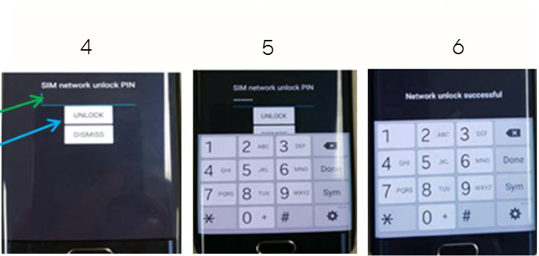 Galaxy Smartphone: How to Enter an Unlock Code
