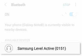 Connect to a Bluetooth Device From Settings 2