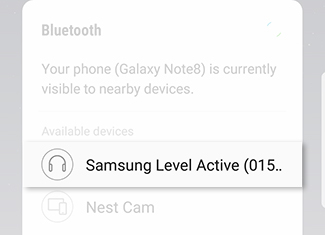 Connect to a Bluetooth Device From the Notification Panel 2
