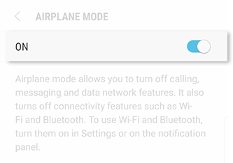 Turn On Airplane Mode from Settings