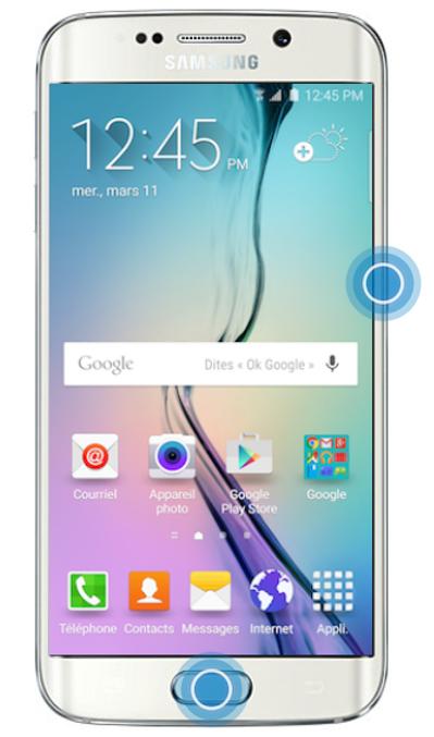Galaxy S6 edge - Réaliser une capture d'écran (SM-G925W8 ...