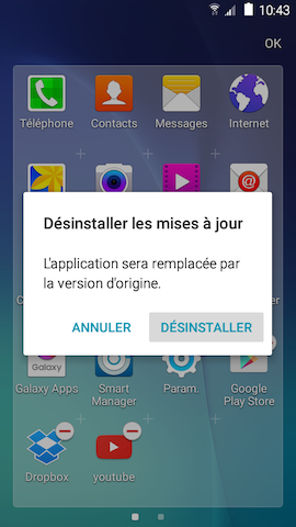 Grand Prime: Désinstaller ou désactiver des applications (SM-G530W)