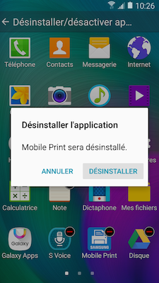 Galaxy A5: Désinstaller ou désactiver des applications (SM-A500W)